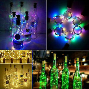 LED Wine bottle Cork with 2M 20 Lights on a String Bottle Battery Operated