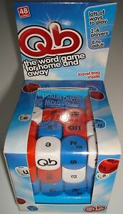 WHOLESALE BOX OF 30  QB GAME WORD CUBE GAME AGE 8 TO ADULT BRAND NEW AND BOXED