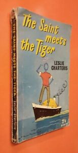 THE SAINT MEETS THE TIGER ~ LESLIE CHARTERIS PAPERBACK ~ POOR CONDITION