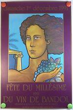 1991 Fête du Millésime du vin de Bandol par Chastagnier AFFICHE ORIGINALE/2PB