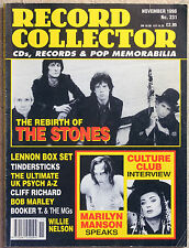 Record Collector No.231 Nov 1998 Stones Bob Marley Marilyn Manson UK Psych