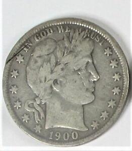 1900 Barber Silver Half Dollar Good Philadelphia Mint