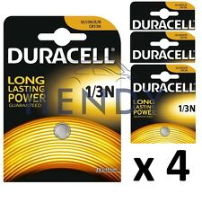 4 x Duracell 1/3N 3V Lithium Batteries DL 1/3 N CR1/3N Long life 4 pack