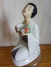 Brule parfum lampe art deco goût  Robj henri delcourt femme japonisante