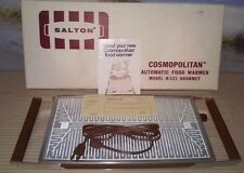 Vtg Salton Cosmopolitan H-121 Automatic Glass Top Food Warmer w/ Box Papers