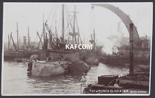 Postcard Royal Navy. Wreck of HMS Gladiator Being Docked at Portsmouth. RPPC
