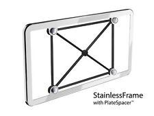 WeatherTech StainlessFrame - Polished Stainless Steel License Plate Frame 1-Pack