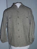 Vintage Mens Woolrich Mackinaw Wool Cape Jacket Grey Herringbone Size 16 Medium