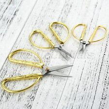 Gold-Plated Sewing Scissors Durable High Steel Vintage Tailor Scissors 3 Sizes