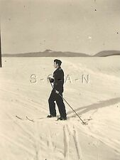 WWII German Army RP- Panzer Soldier- Hat- Black Uniform- Cross Country Skiing