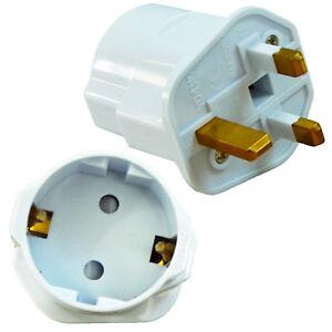 2 X Reisestecker Adapter Deutschland England GB UK auf EU EURO Schuko Stecker