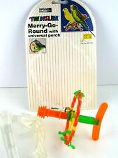 Merry Go Round Bell Universal Perch Penn Plax Twinkler Bird Toy '95 NOS BAT534 3