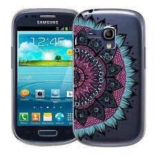 Schutzhülle Samsung Galaxy S3 Mini Hülle Silikon Handy Tasche Mandala Case Cover