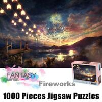 1000 Pieces Mini Puzzles Jigsaw Gorgeous Fireworks Puzzle Painting Assembly Toys