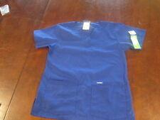 Landau  V Neck Tunic Scrub Top Women's 8219 BGP S Small  Blue NWT New shirt