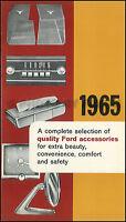 1965 Ford CANADIAN Accessories Catalog MINT Galaxie Falcon Fairlane Truck Van
