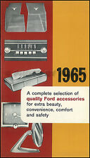 1965 Ford CANADIAN Accessories Catalog MINT Galaxie Falcon Fairlane Truck Van