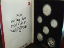 Singapore 1990 Year of the Horse 1cts - $1 Sterling Silver Proof Coin Set