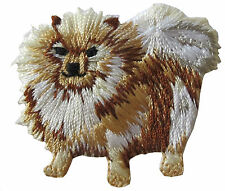 """#4336 2"""" Pomeranian Dog Embroidery Iron On Applique Patch"""