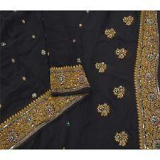 Sanskriti Vintage Black Heavy Dupatta 100% Pure Georgette Silk Hand Beaded Stole