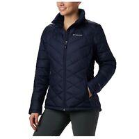 Columbia Women's Heavenly Jacket 1X Thermal Reflective Insulated Coat Dark Blue
