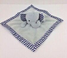 Elephant Security Blanket Lovey Gray Lovey Navy Blue Chevron Cuddley