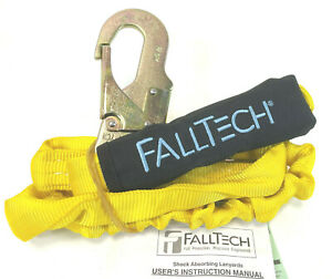 Falltech 7259 Internal 6-Foot Shock Absorbing Lanyard Tubular Web