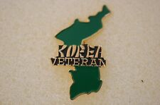 US USA Korea Veteran Military Hat Lapel Pin