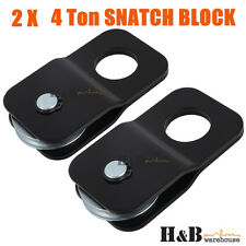 2 x 4 Ton Snatch Block Winch Rope Pulley Hoist 4WD Off Road Recovery ARB C0078