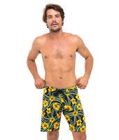 69Slam Hibiscus Black 4 Ways Stretch Boardshorts - Size 32-  Beach Surf Swim Sho