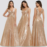 Ever-Pretty US Sequins V-Neck A Line Evening Dress Glitter Celebrity Party Gowns