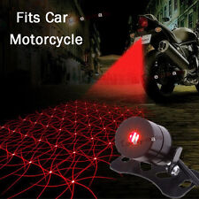 Car Motorcycle LED Laser Fog Brake Rear Warning Lamp Anti-Collision Tail light e