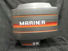 1989 MARINER 50HP TOP COWL COVER 2142-6228A3 2141-6227A17 MERCURY OUTBOARD MOTOR