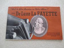 Original 1936 Nash Deluxe LaFayette automobiles advertising brochure