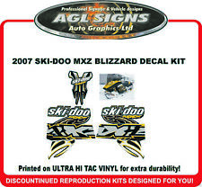 2007 SKI-DOO MXZ BLIZZARD DECAL KIT REPRODUCTIONS stickers 600
