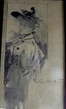 Raimund GERMELA (1868-1945 Wien) - Aquarell Jugendstil Dame - Die Jugend