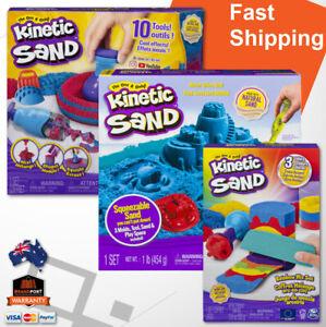 Kinetic Sand Kids Craft Art Kit Choose Rainbow Mix, Sandisfying Set, Sandbox Set