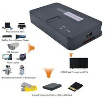 1080P HD Game video Capture Recorder To PVR USB SD Card Host H.264 HDMI YPBPR