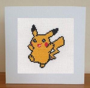 Pikachu Card - Pokemon Cross Stitch Kit