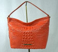 NWT! Brahmin Small Harrison Hobo/Shoulder Bag in Pimento Glossy Melbourne
