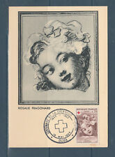 frb/ carte  croix rouge Fragonard  21 Dijon  1963