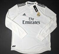 Adidas Real Madrid Home Authentic Jerseys Long Sleeve 18/19 DQ0869 Men's XL