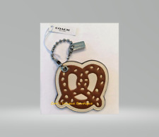 """COACH LEATHER LIMITED EDITION """"PRETZEL"""" HANG TAG/BAG CHARM NWT*AUTHENTIC"""