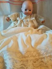 "Antique Doll Dream Baby Babe Tiny 9"" Newborn Pouty Bisque Infant 16 Germany"