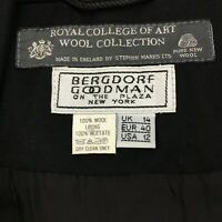 Bergdorf Goodman S Small Dress Black VTG Royal College of Art Wool Collection