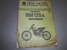 Suziki Vintage New Model Technical Bulletin 1976 RM125 RM125A NT-3361