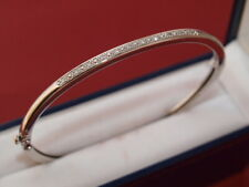 9ct white gold Diamond bangle bracelet 9 grams