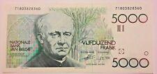 5000 Francs 1982, Gezelle (1982-1992), KM:145a Belgique Belgïe Belgium