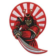 "SAMURAI IRON ON PATCH 5.5"" Embroidered Ninja Warrior Sword Japanese Rising Sun"