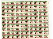 BOYSTOWN 1956 POSTER STAMPS, FULL SHEET